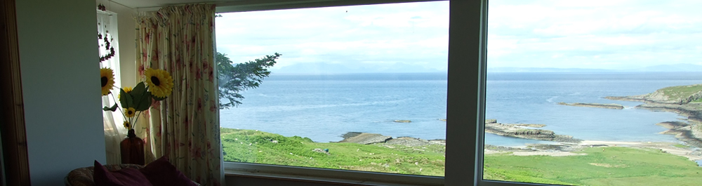 View from bedroom at Air an Oir Ardnamurchan Scotland