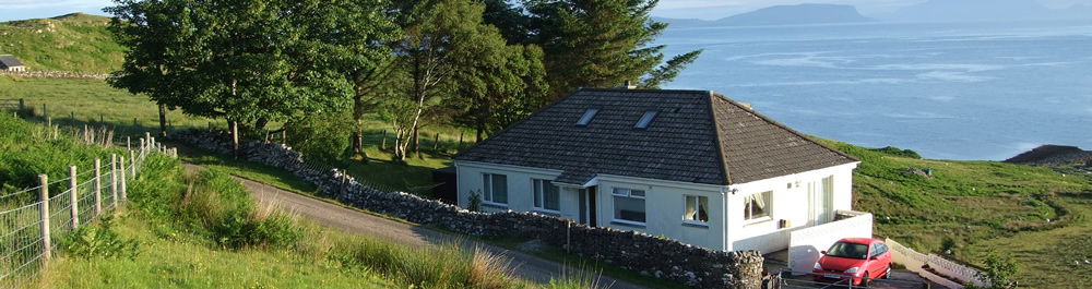Self catering holiday house Ardnamurchan Scotland