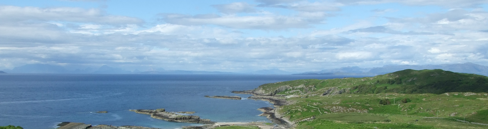 View of Isle of Skye from Air an Oir Ardnamurchan Scotland