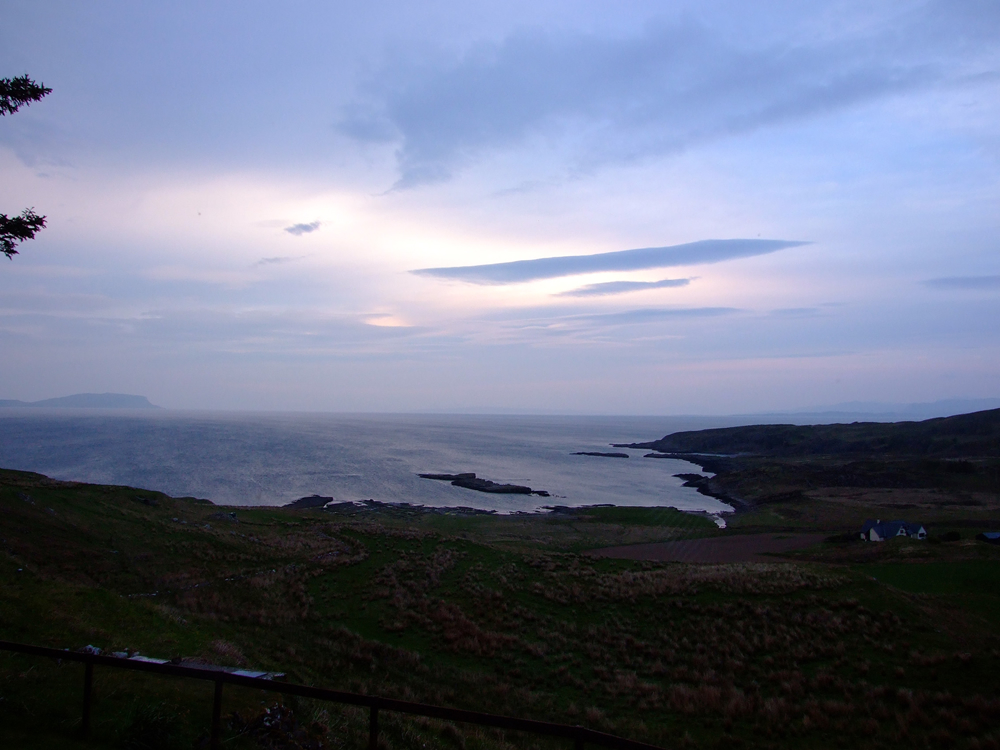 Dramatic sky view from Air an Oir holiday house in Ardnamurchan Scotland