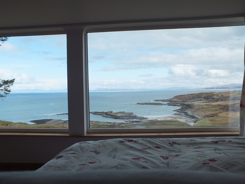 View from Bedroom at Air an Oir holiday house in Ardnamurchan Scotland