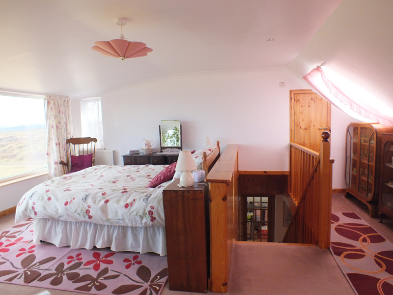 Upstairs Bedroom at Air an Oir holiday house in Ardnamurchan Scotland