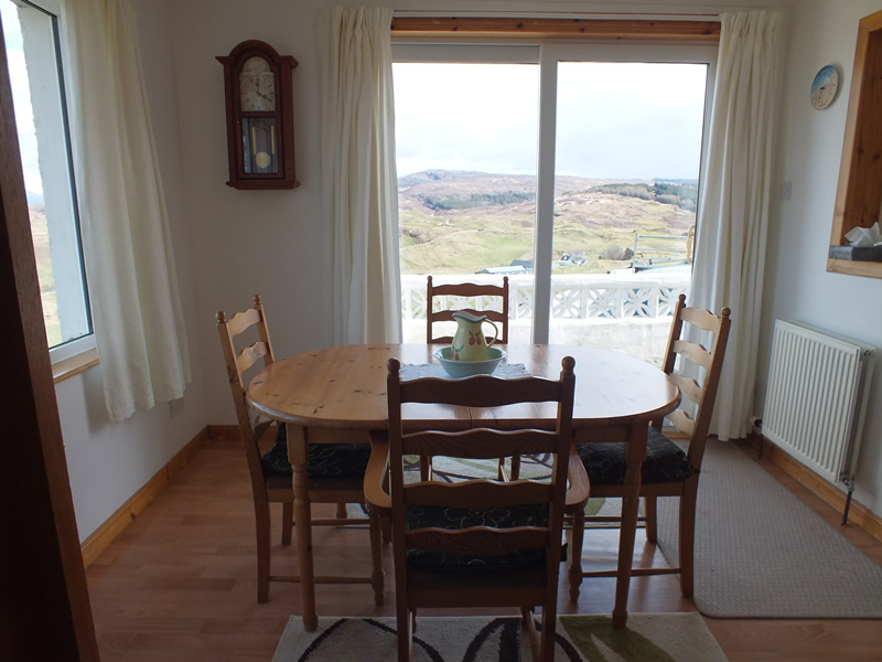 Dining room at Air an Oir Ardnamurchan Scotland