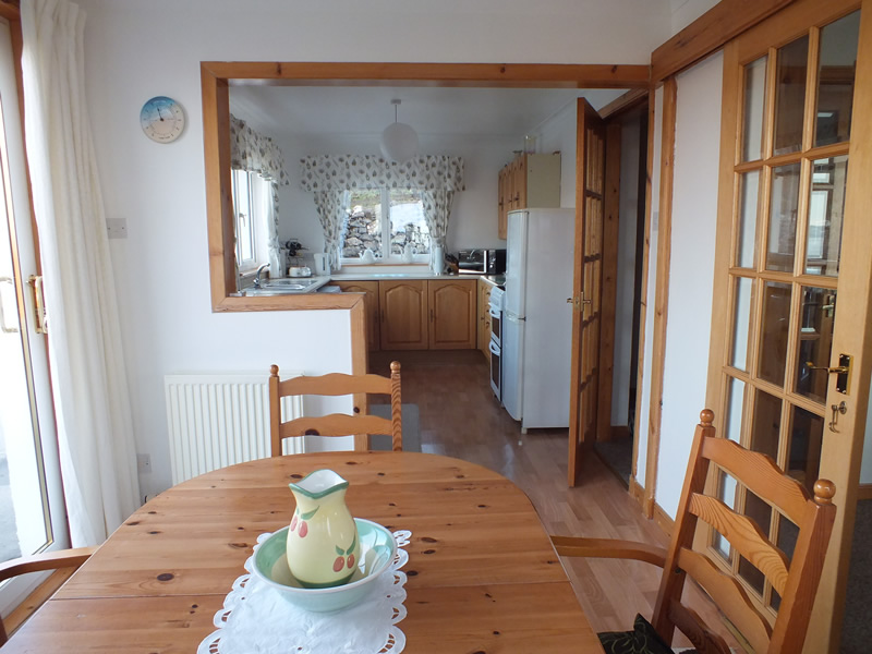 Kitchen & Dining room at Air an Oir Ardnamurchan Scotland